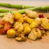Курица с яблоками в сладко-остром соусе